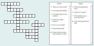 Galaxy Crossword 1
